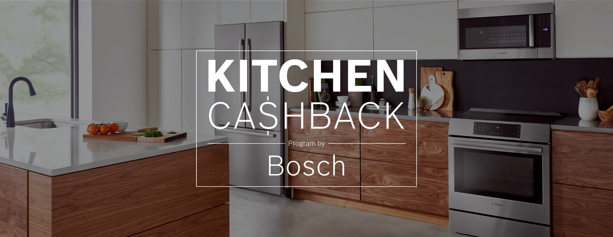Receive up to $1,500 Rebate on Select Bosch Kitchen Packages